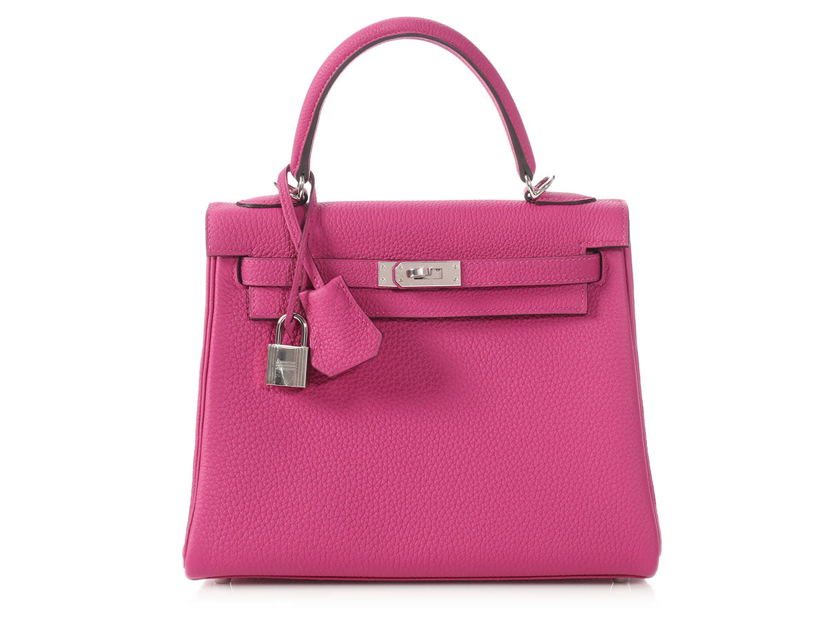 Hermès Rose Pourpre Togo Kelly 25
