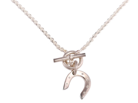 Hermès Sterling Silver Horseshoe Necklace