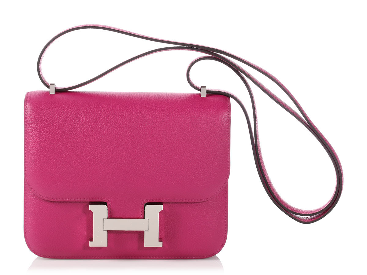 Hermès Rose Pourpre Evercolor Constance 18