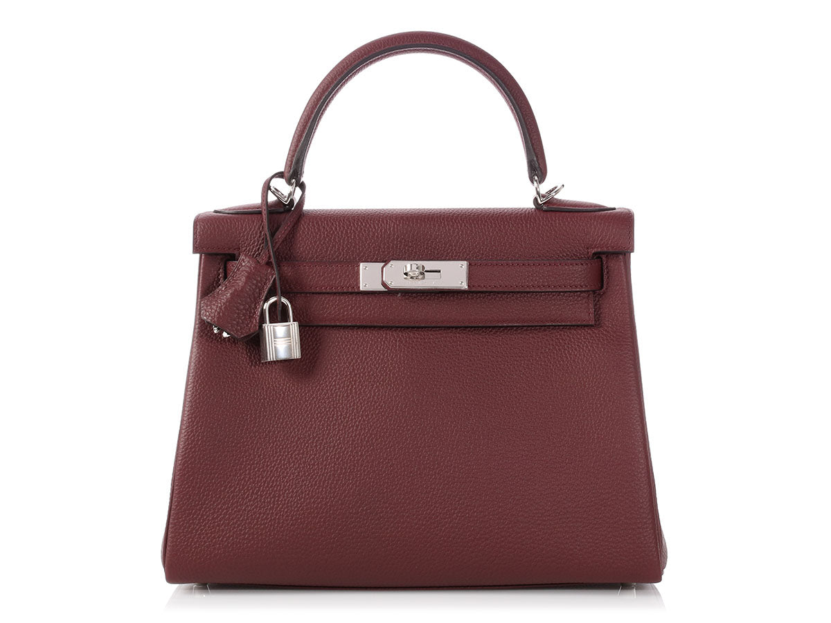Hermès Bordeaux Togo Kelly 28