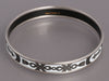 Hermès Narrow Silver and White Enamel Grand Apparat Bangle