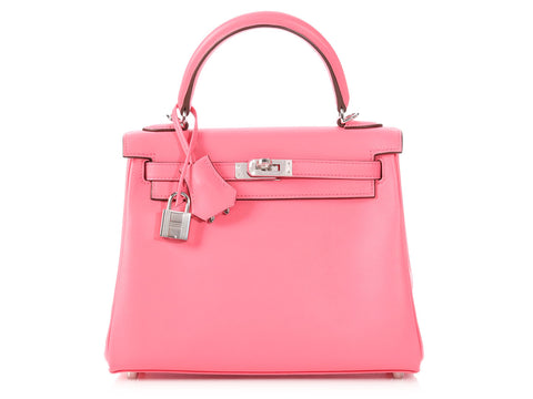 Hermès Rose Azalea Swift Kelly 25