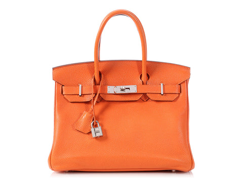 Hermès Orange Togo Birkin 30