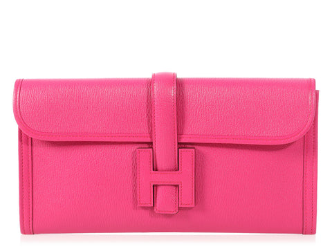 Hermès Rose Shocking Chèvre Jigé 29