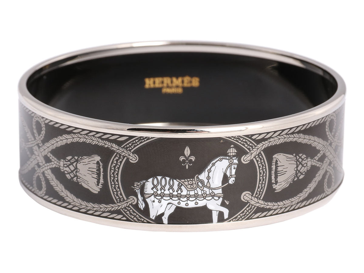 Hermès Wide Enamel Grand Apparat Bangle