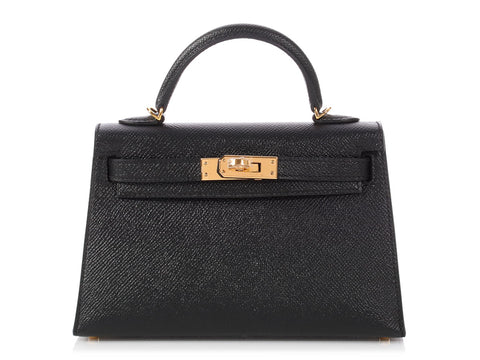 Hermès Mini Black Epsom Kelly 20