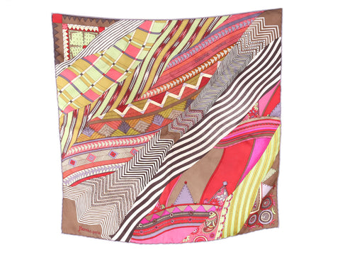 Hermès Coupons Indiens Silk Pocket Square