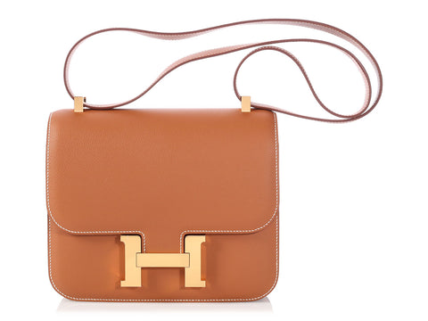 Hermès Gold Evercolor Constance 24