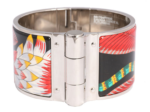 Hermès Extra Wide Savannah Dance Hinged Bangle