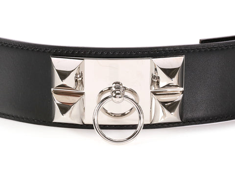 Hermès Black Collier De Chien CDC Belt