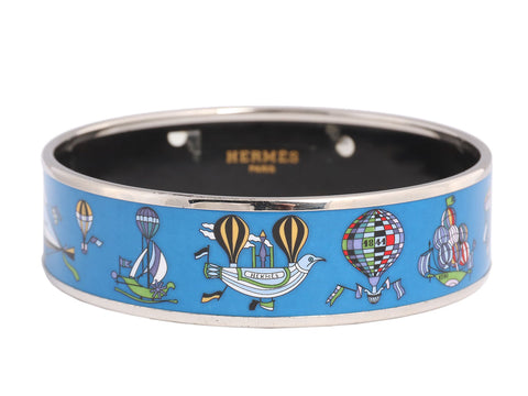 Hermès Wide Les Folies du Ciel Enamel Bangle