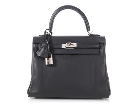 Hermès Black Swift Kelly 25
