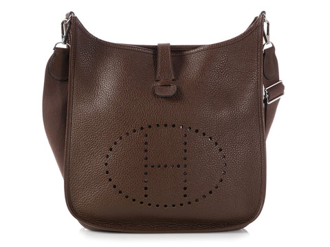 Hermès Chocolate Clémence Evelyne III GM
