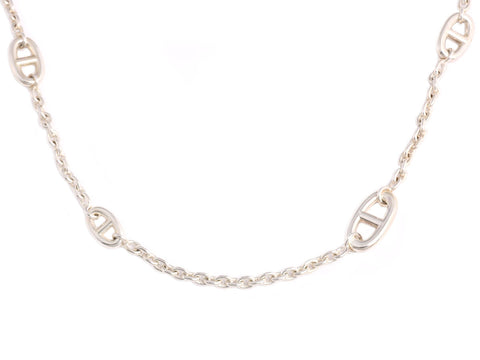 Hermès Sterling Silver Farandole Necklace 120cm
