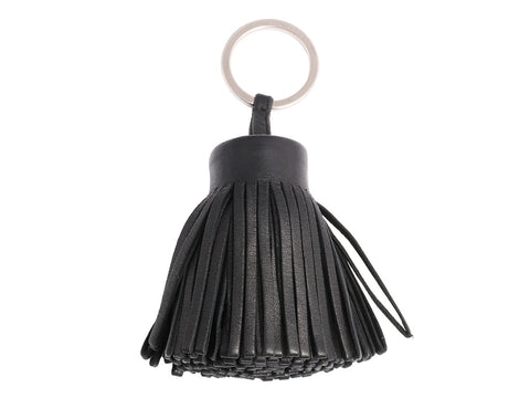 Hermès Black Leather Carmen Key Ring