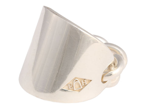 Hermès Sterling Silver Bague Querelle Ring