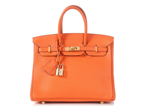 Hermès Orange Togo Birkin 25