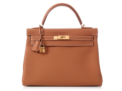 Hermès Gold Togo Kelly 32