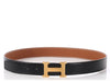 Hermès Black and Gold Reversible Belt 32mm