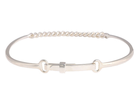 Hermès Sterling Silver Choker Necklace