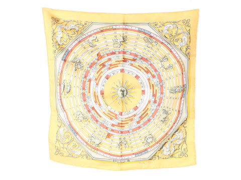 Hermès Astrologie Silk Pocket Square