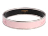 Hermès Narrow Pink Enamel Calèche Bangle