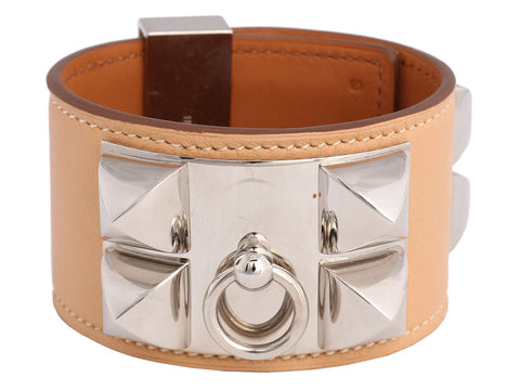 Hermès Natural Swift Collier de Chien CDC Bracelet