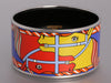 Hermès Extra Wide Enamel Quadridge Bangle