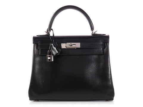 Hermès Black Box Leather Kelly 28