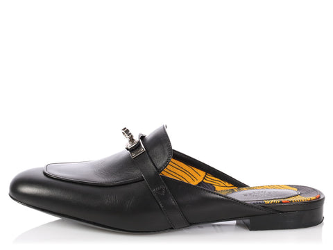 Hermès Black Oz Mules