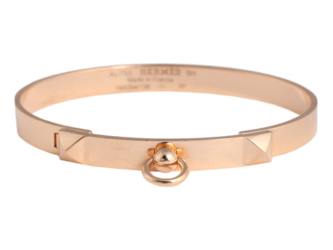 Hermès 18K Rose Gold Collier de Chien CDC Bracelet