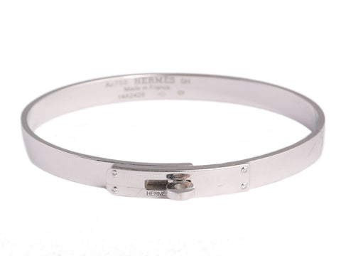 Hermès 18K White Gold and Diamond Kelly Bracelet