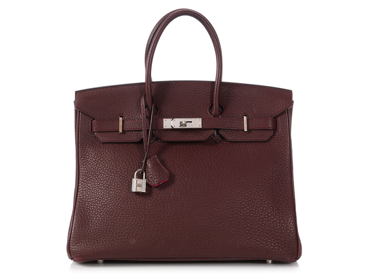 Hermès Special Order Bicolor Prune and Rose Shocking Birkin 35