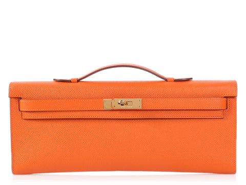 Hermès Orange Epsom Kelly Cut