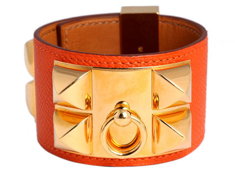 Hermès Orange Epsom Collier de Chien CDC Bracelet