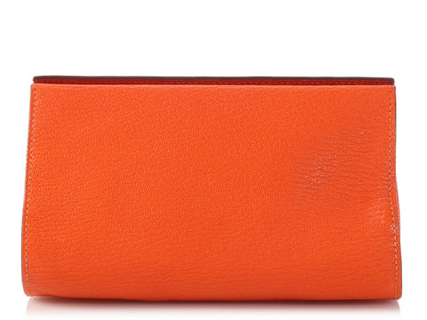 Hermès Orange Chèvre Karo PM