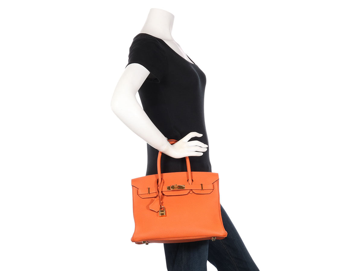 a7ced1101741 Hermès Orange Togo Birkin 30