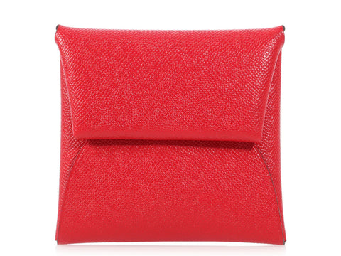 Hermès Rouge Piment Epsom Bastia Coin Purse