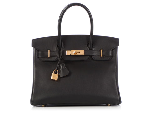 Hermès Black Swift Birkin 30