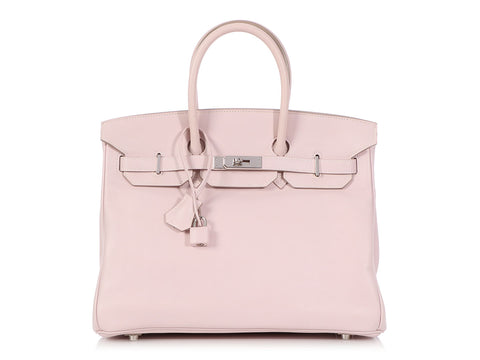 Hermés Rose Dragée Swift Birkin 35