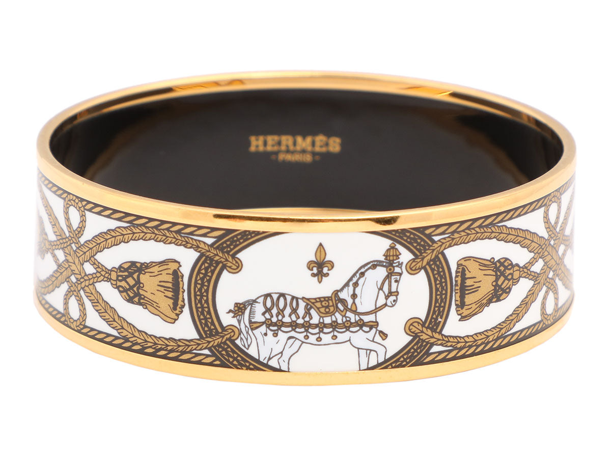 Hermès Wide Grand Apparat Bangle 65