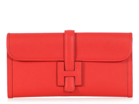 Hermès Rouge Tomate Swift Jigé Elan 29