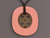 Hermès Peach Pink Lacquered and Natural Horn Lift Pendant Necklace