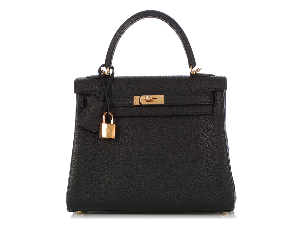 Hermès Black Togo Kelly 25