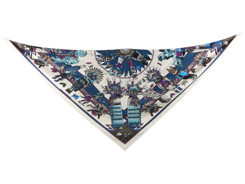 Hermès Kachinas Silk Giant Triangle