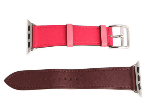 Hermès Single Tour Stainless Steel and Swift Leather Apple Watch Strap 40mm