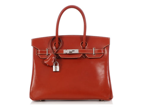Hermès Brique Box Leather Birkin 30