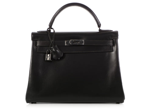 Hermès So Black Box Leather Kelly 32