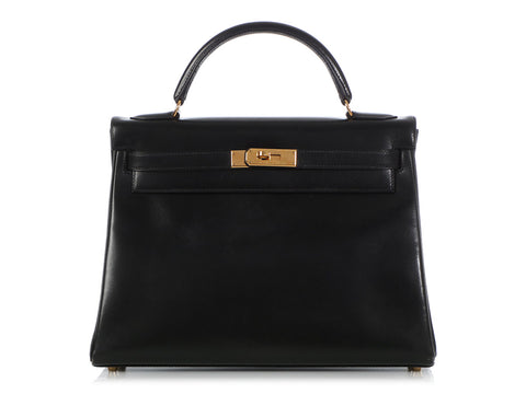 Hermès Black Box Leather Kelly 32