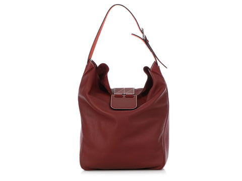 Hermès Rouge H Tri-Leather Virevolte Sac 29